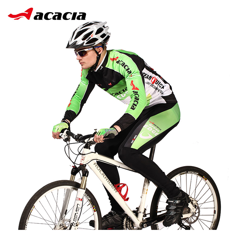 ACACIA 2017 pro Team Cycling Jersey Sets Long Sleeve Breathable Pad Sportswear Mtb Bicycle Bike Clothing Suit Cycling Equipment