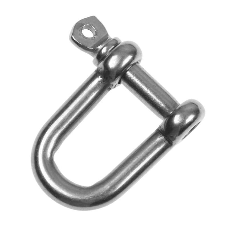 Marine Hardware Stainless Steel Bow Anchor Shackle Non Slip Screw Pin Paracord Bracelet Buckle Outdoor Survival Rope Fittings 5mm Shackle 5pcs Atv,rv,boat & Other Vehicle