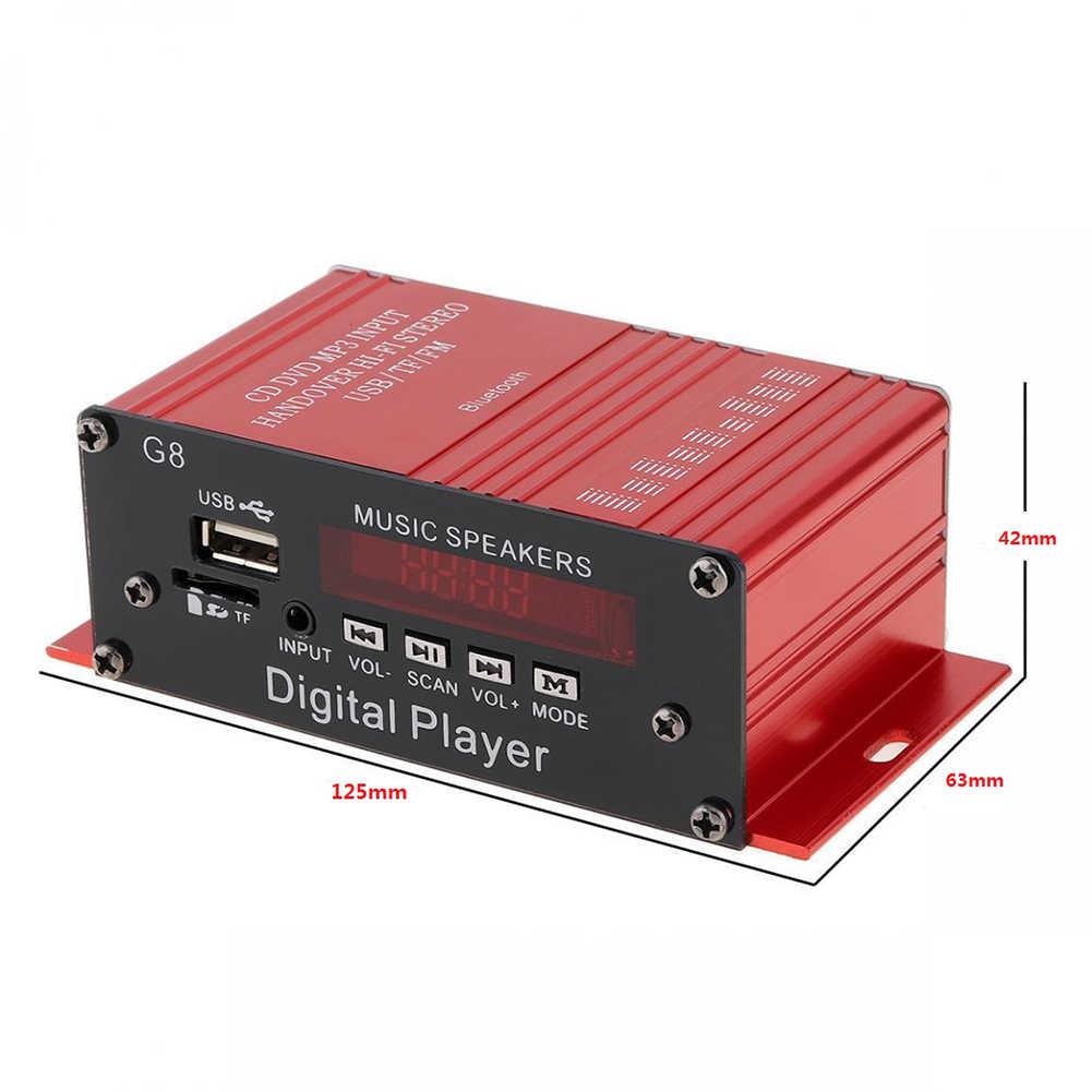 DJSona, новинка, 12 В, G8, автомобильный усилитель, HIFI аудио усилитель мощности, Bluetooth, стерео, для автомобилей, театральные усилители, FM радио, Лидер продаж