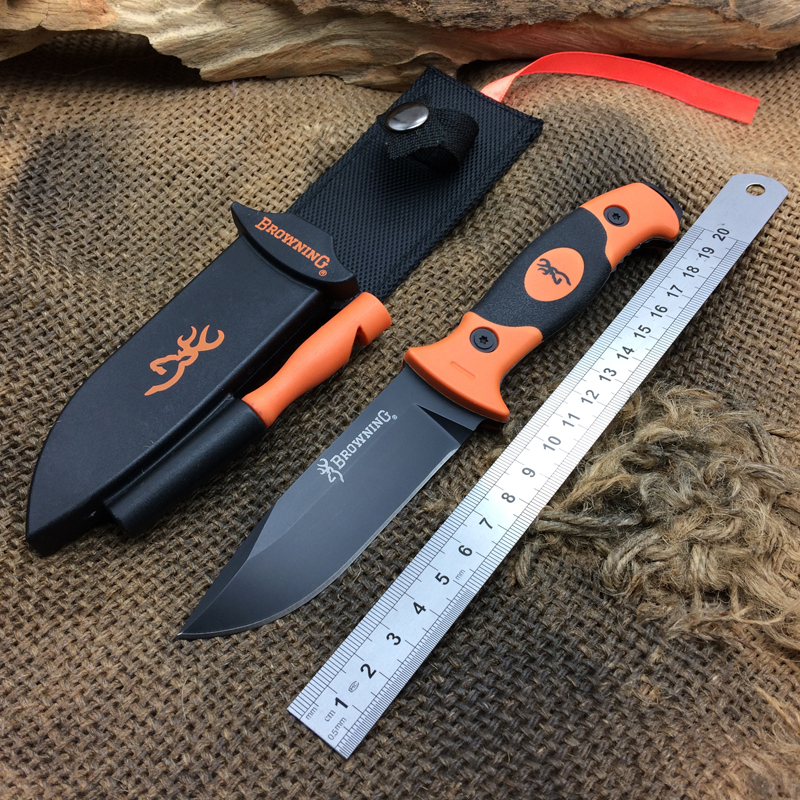 BROWNING 202 Tactical Fixed Knives,7Cr15Mov Blade Camping Survival Knife,Hunting Knife. цены