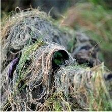 Ghillie костюм военная игра наружная винтовка Охота 1,2 м/48 дюймов эластичная Синтетическая нить цвета смешанные камуфляж лесной Ghillie веревка