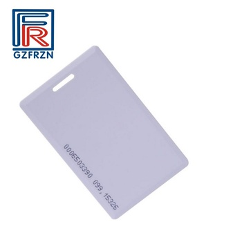 100pcs/box 125khz RFID thick card with EM4200 chip suitable for access control and attendance cards