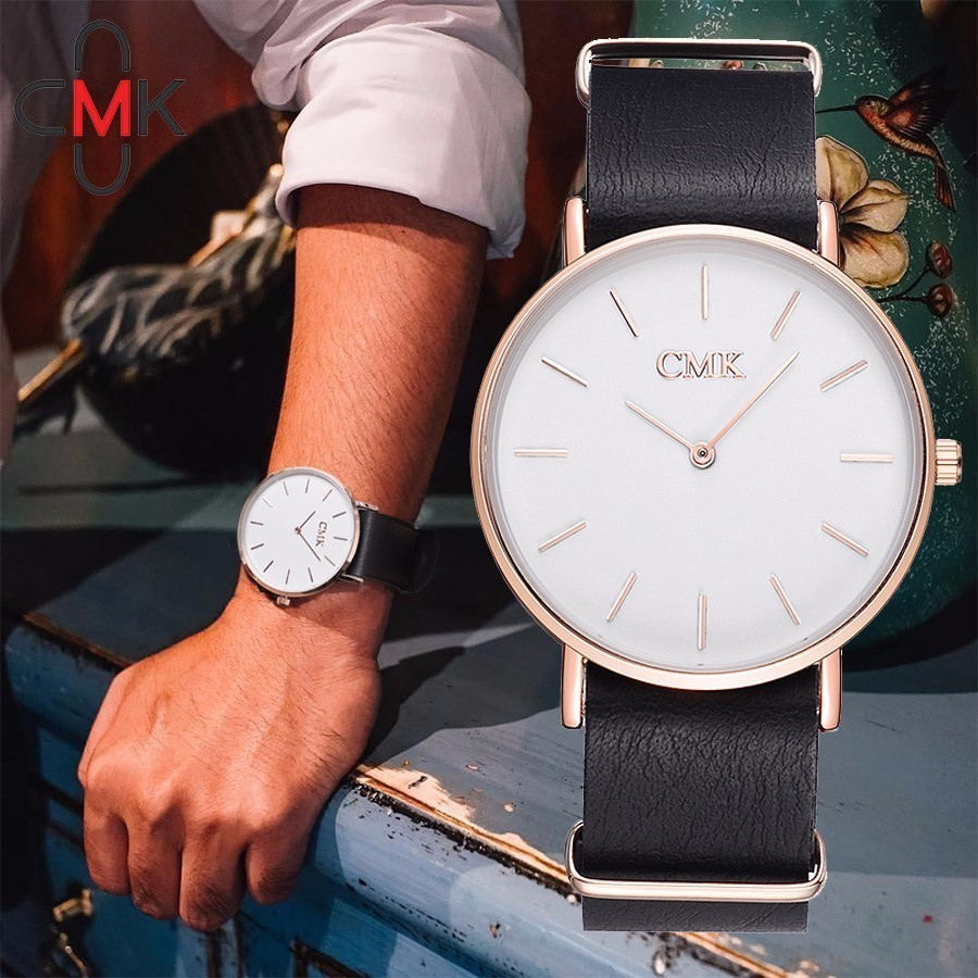 CMK Brand Ultra-thin Quartz Watch Leather Men Clock Fashion Casual Women Dress Wristwatches Gift Clock Dropshipping брюки accelerate tight