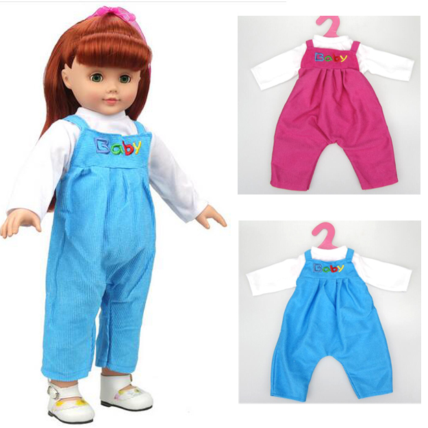 """1set clothes for 18"""" 45cm American girl doll rompers baby"""