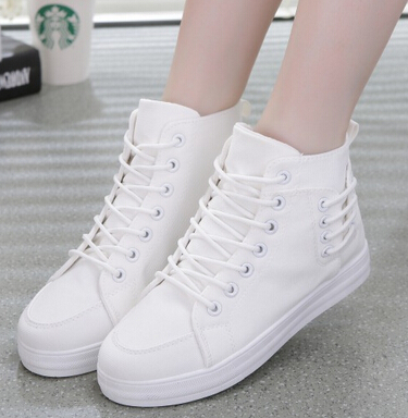 New Autumn Summer white woman canvas shoes hollow Solid Color Low Canvas flats Casual zapatos