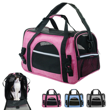 Bolsa de transporte portátil para perros y gatos, bolsa de viaje para cachorros, malla transpirable, portador de Chihuahua pequeño