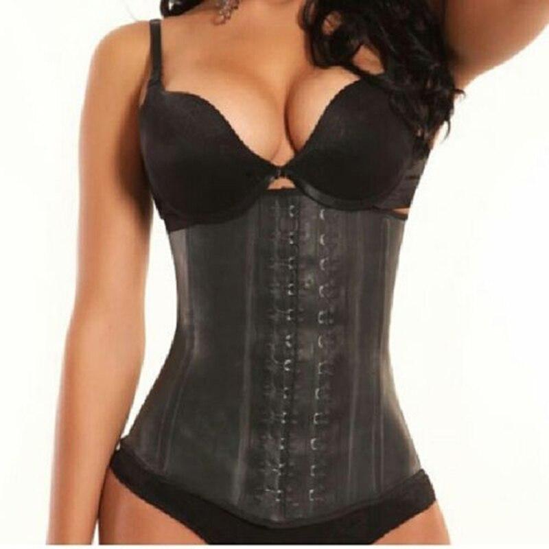 Sexy Plus Size 2017 Latex Waist Trainer Corset Bodyshaper Underbust Sexy Women Waist Cincher Slimming Body Shaper Wear XS-6XL