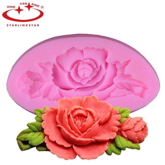 1 pcs 3d rose flower g teau moule silicone fondant g teau for Chambre de sucre gourmet artisanal sugars