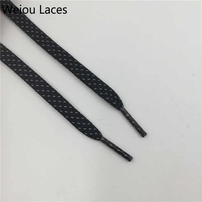 Weiou 3 M Düz Danteller Renkli Bootlaces Siyah Boru Shoestring Stilleri Yansıtıcı Ayakkabı Bağcıkları Özel Logo Ayakabı Satış 350