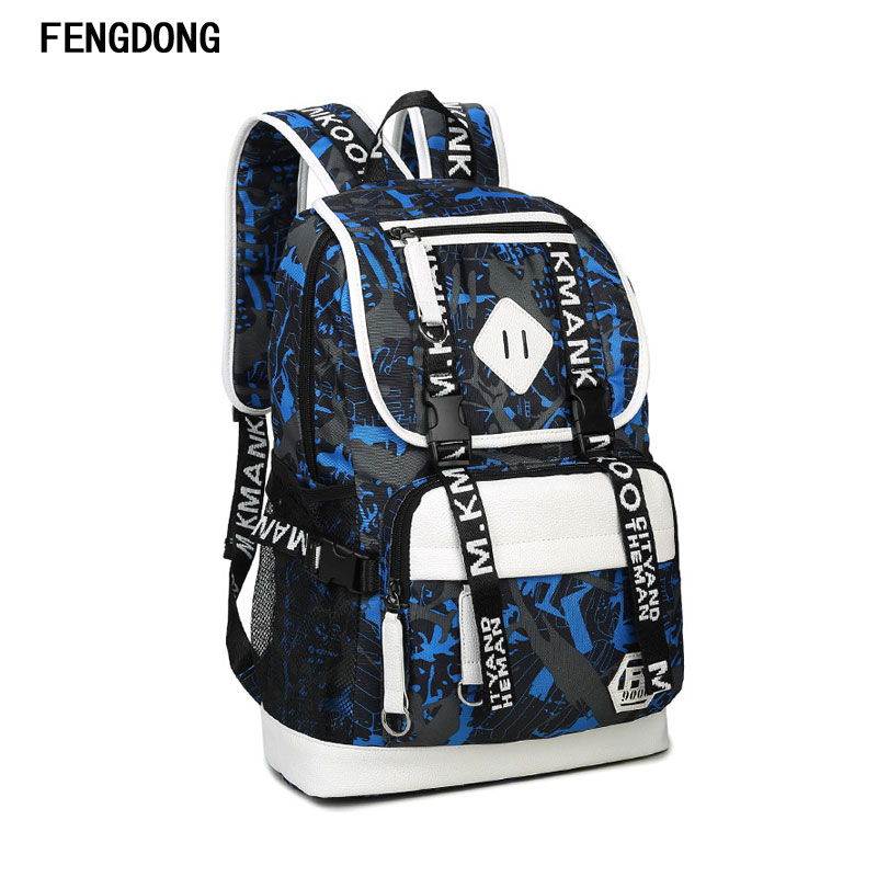 Fengdong Packable Travel Backpack with USB Charging Water Resistant Daypack with Mini Bag