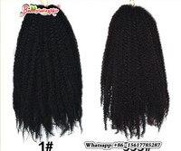 18 ''100g Warkocze Szydełku Twist Marley Oplot Syntetyczny Włosów Afro Perwersyjne Przedłużanie Włosów 3 Sztuk/partia Wysokiej Temperatury