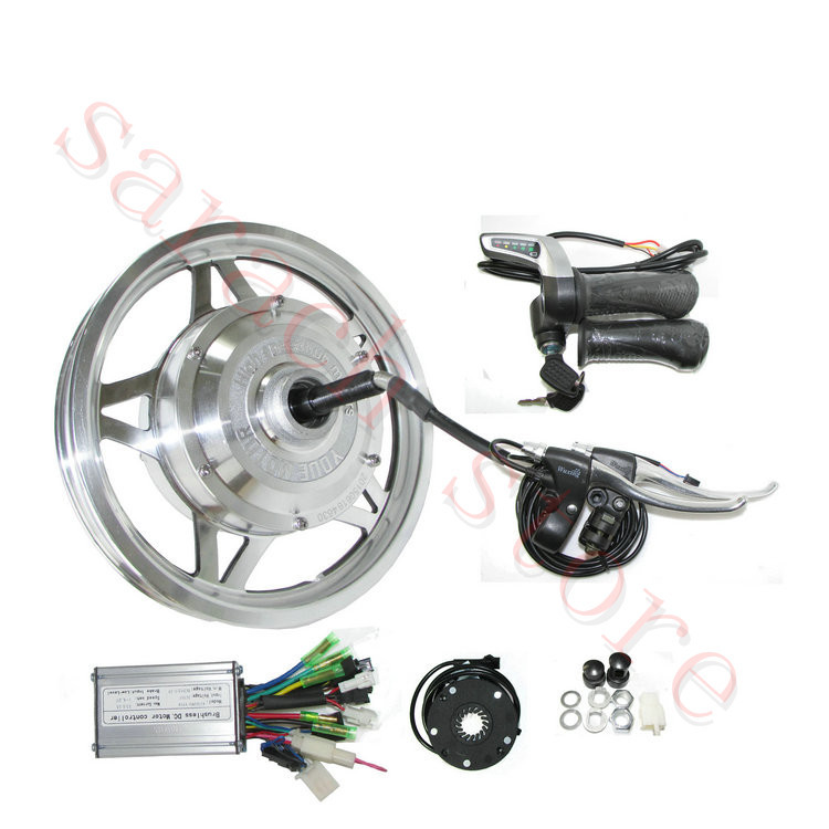 Spor ve Eğlence'ten Elektrikli Bisiklet Motoru'de 36 V 250 W arka tüm tekerlek motoru  Elektrikli bisiklet motor  fırçasız dişli hub motor  elektrikli bisiklet kiti title=