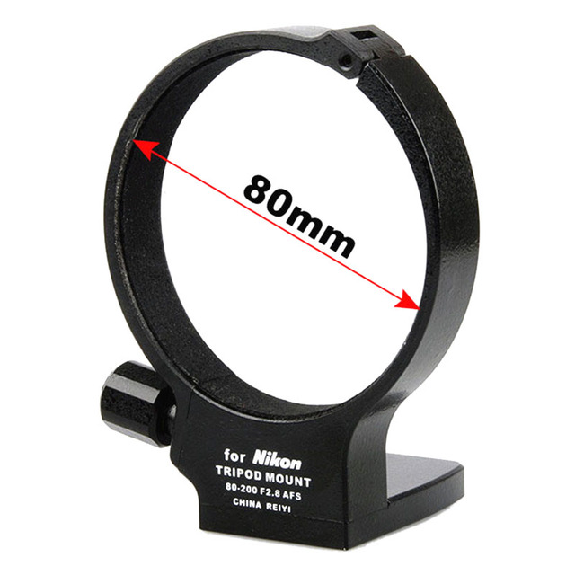 Metal Tripod Mount Collar Ring Adapter for DSLR Camera Nikon Nikkor AF S 80 200mm f / 2.8D Black