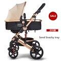 9 cores europeu carrinho de bebê choque oley carrinho de bebê carro bb absorvedores de luz dobrável carrinho de bebê criança carro do bebê empurrar enviar bandeja lanche