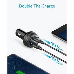 Image 3 - Anker PowerDrive Speed 2 39 واط شاحن سيارة USB مزدوج ، شحن سريع 3.0 ل Galaxy ، PowerIQ آيفون 11/Xs/XS Max/XR/X/8 وأكثر من ذلك