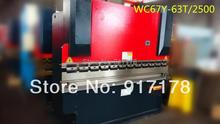 WC67Y 63T 2500 hydraulic bending press bender machinery tools