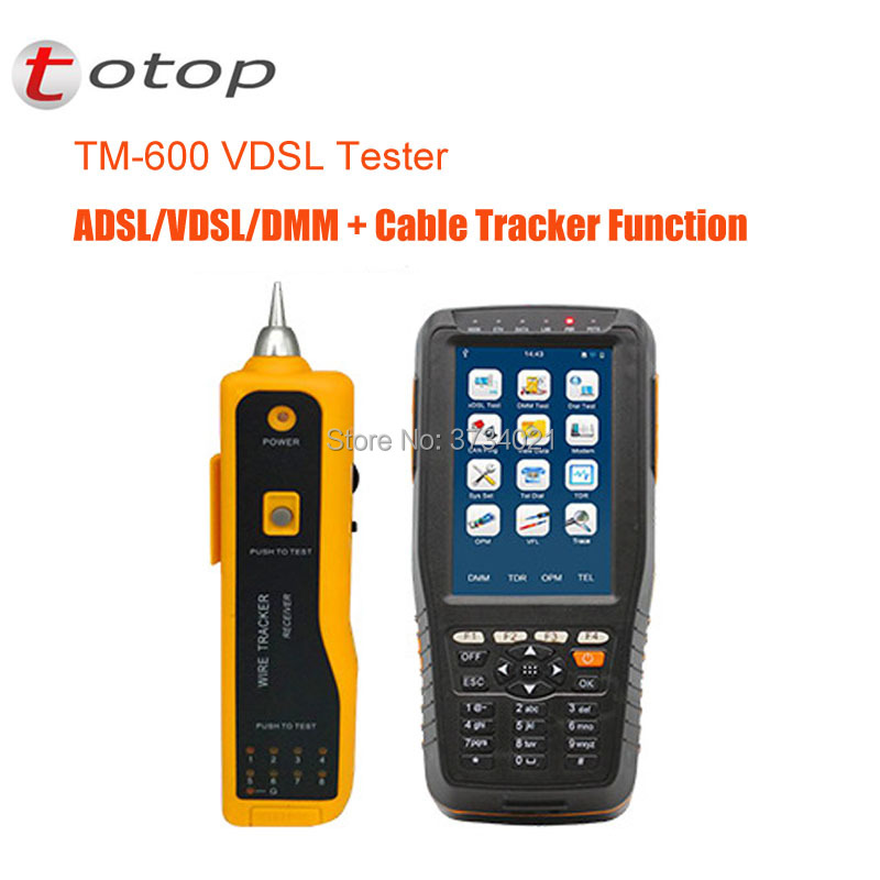 TM-600 VDSL VDSL2 Testeur ADSL WAN et LAN Testeur xDSL Ligne Équipement de Test Avec Version De Base + Ton Traqueur Fonction