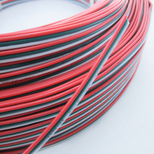 20M 3pin PVC insulated Wired wire, 22awg Tinned Copper Electric Cable For LED strip connecting(China (Mainland))