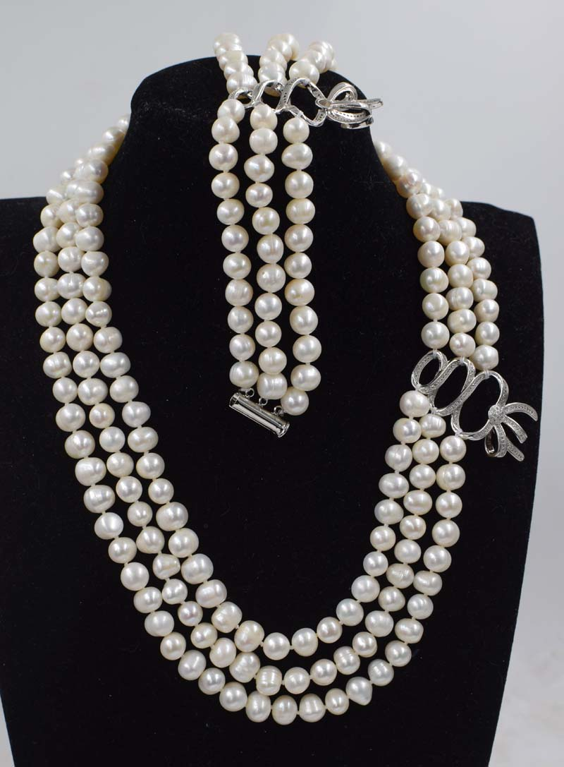 one set  freshwater pearl  near round 8-9mm necklace bracelet  17-19inch wholesale beads nature FPPJ womanone set  freshwater pearl  near round 8-9mm necklace bracelet  17-19inch wholesale beads nature FPPJ woman