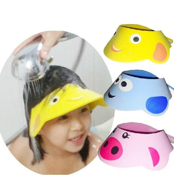 de58c0abeba Baby shampoo cap Baby bath Eye protection Cap for Children wash hat  Adjustable Cartoon Shower cap Shampoo cabelo profissional