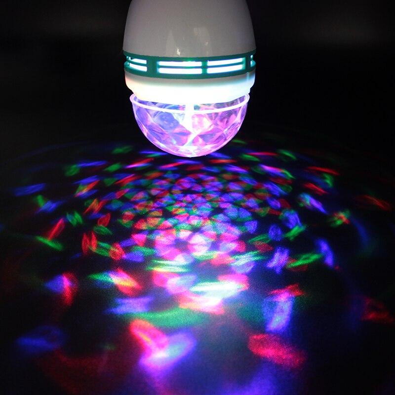 220V 3W RGB disko Lampada LED E27 rotirajuća disko kugla za DJ odmor - Rasvjeta za odmor - Foto 1