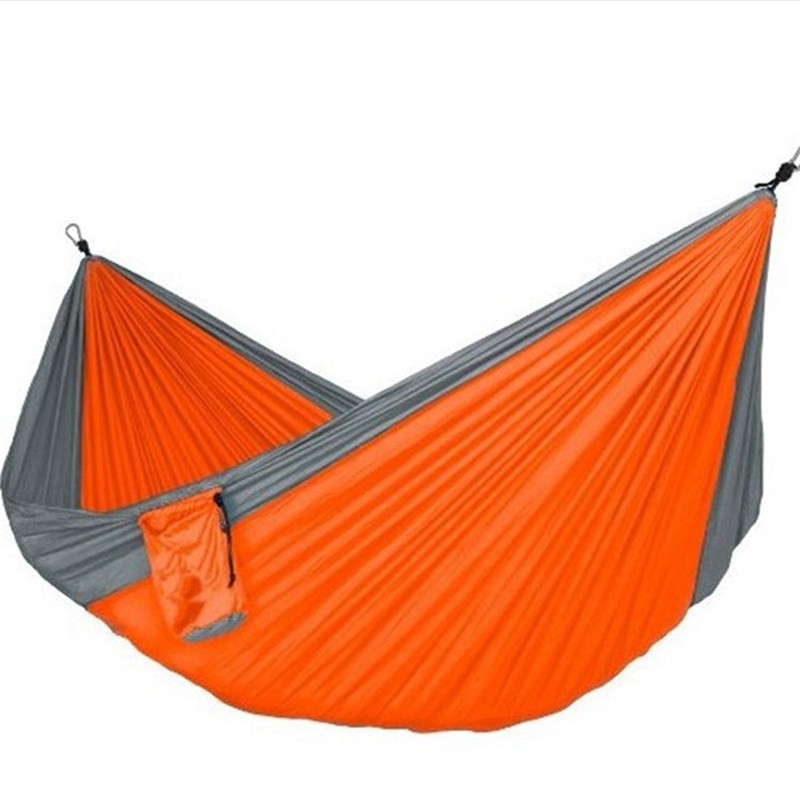 SGODDE Assorted Color Hanging Sleeping Bed Parachute Outdoor Camping Hammocks Double Person Portable Hammock Hot Sale thicken canvas single camping hammock outdoors durable breathable 280x80cm hammocks like parachute for traveling bushwalking