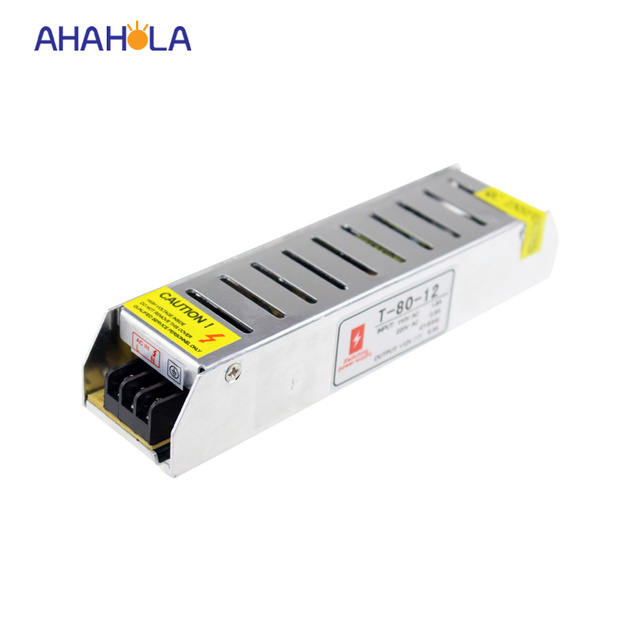 mini/small 12v power supply,ac 110v 220v switching dc 12v 6.5a 80w power supply for led strip