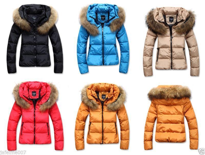Online Shop Women's No Hooded Fur Collar Down Cotton Puffer Short ...