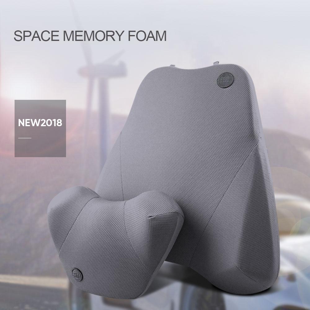 1 SET Car Pillow Set Breathable Auto Head Neck Lumbar Waist Support Rest Cushion Relax Soft