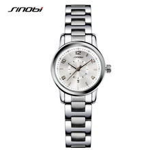 SINOBI 2017 Famouse Brand Watch Clock for Women Lady Quartz Wristwatch Luxury Stainless Steel Watch Hours Woman's  Relogio