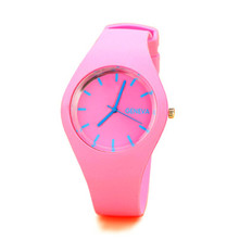 New Geneva Silicone Watch Jelly Color Simple And Stylish Spo