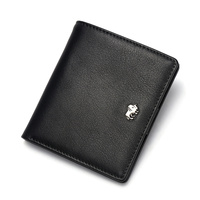 Fashion Purse man's Genuine Leather Wallet Quality Mini Wallet Male Card Holder Small Zipper Coin Purse W9317