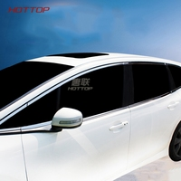 Stainless Steel Full Car Window Trim Cover Exterior Accessories For Honda Jade With Column Car Styling sticker