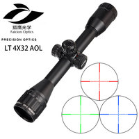 SNIPER LT 4X32 AOL 1inch Tactical Optical Riflescope Mil Dot Red Green Blue Illumination for Tactical Optical Sights Scope