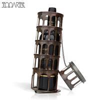 Tooarts金属タワーワインラック古典ボトルホル