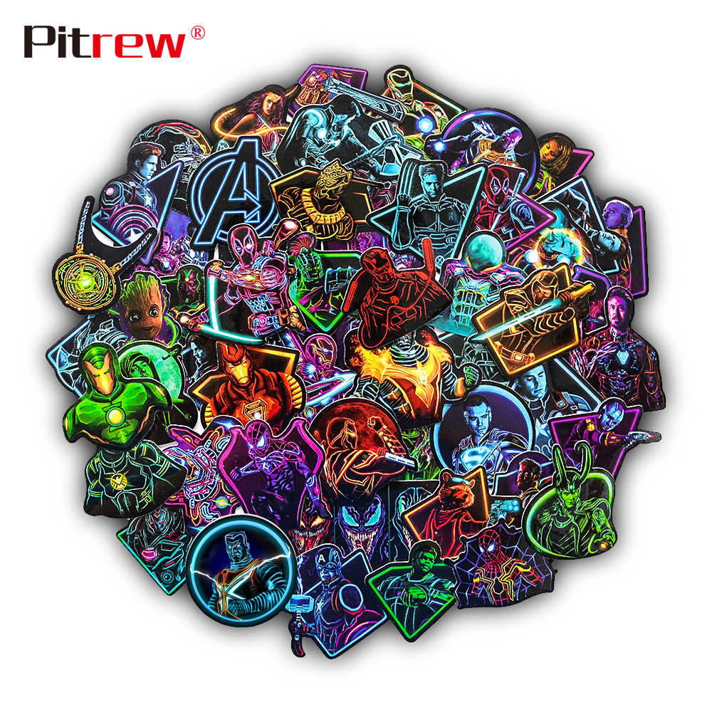 60 PCS Car Stickers Marvel Avengers Sticker Bomb on Motorcycle Bike Suitcase Decor Phone Laptop Vinyl Decal JDM Car Styling