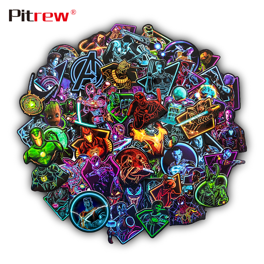 60 PCS Car Stickers Marvel Avengers Sticker Bomb on Motorcycle Bike Suitcase Decor Phone Laptop Vinyl Decal JDM Car Styling-in Car Stickers from Automobiles & Motorcycles