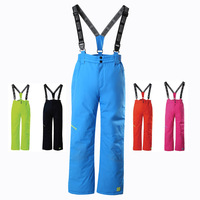 Brand Waterproof Baby Boys Girls Long Skiing Pants Warm Climbing Trousers Sporty Children Outfits For 4 16 Years Old