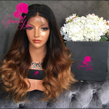 2016 New Fashion 1B#T4#T27# Ombre Full Lace Wig Human Hair Three Tone Ombre Lace Front Wig, Brazilian Wavy Ombre full lace wigs