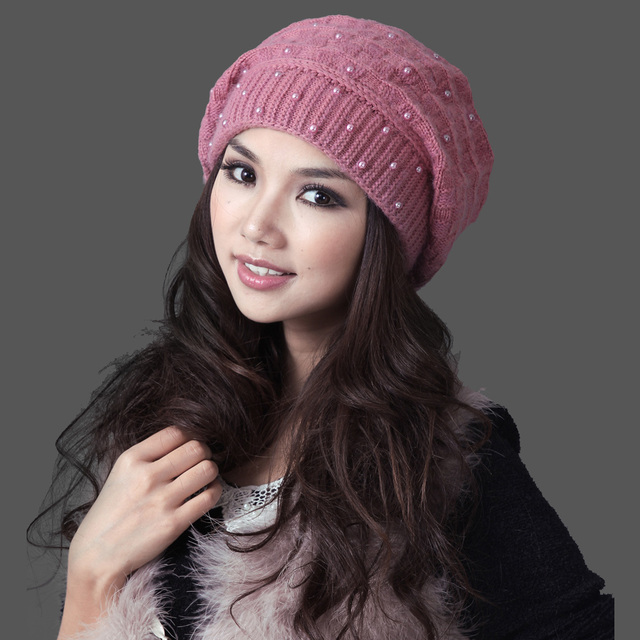 2017 Mask Gorros Free Shipping Women Winter Hat With Pom Thermal Thicken Knitted Female Double Layer Casual Beanies Cap 22305