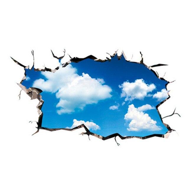 Wolke blauen himmel 3d wandaufkleber vinyl decke aufkleber for Boden aufkleber 3d