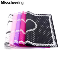 1 Pcs Silicone Foldable Nail Art Table Mat Pad Cute Dot Lace Design Washable Beauty Care