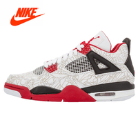 Original New Arrival Authentic Nike Air Jordan 4 Retro Laser Sports Basketball Shoes Sneakers Sport Outdoor Good Quality