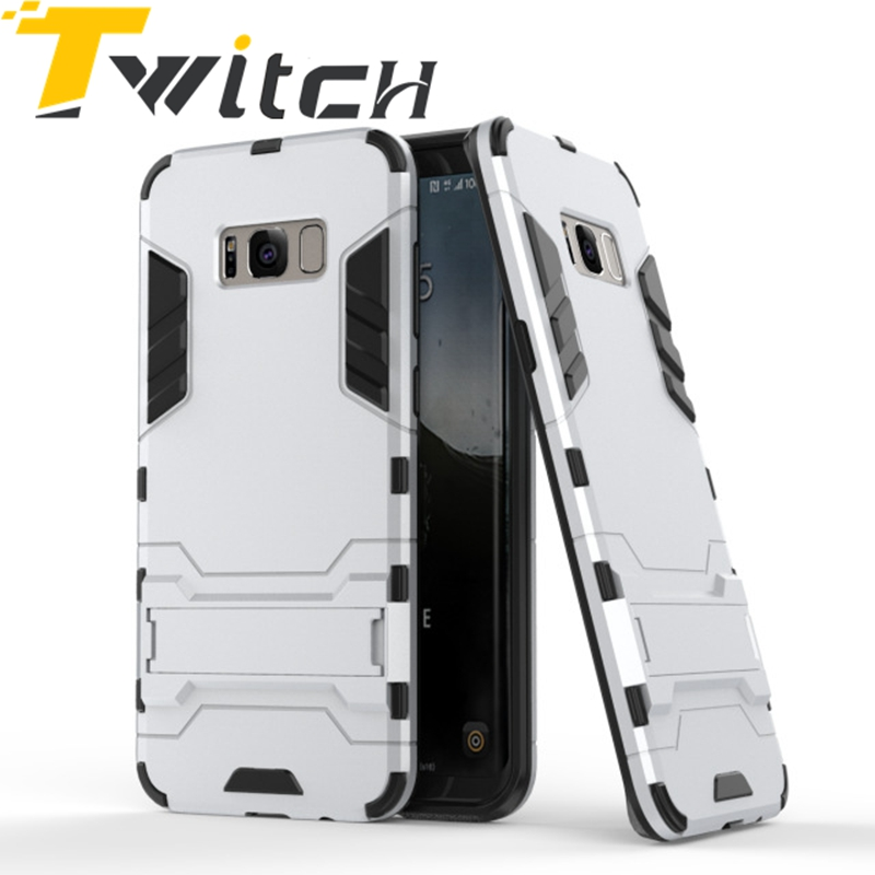 Popular Armor Phone case cover for Samsung Galaxy S8 Plus Robot Case Holder Function Shockproof Rubber Hard Back Cover For S8