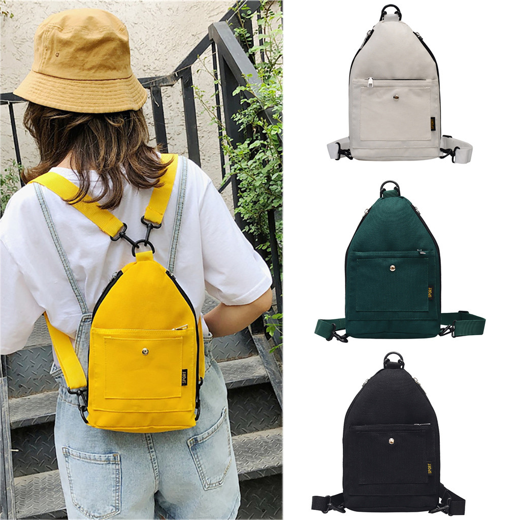 Women Fashion Casual Wild Shoulder Bag Simple Solid Color Travel Backpack For Student School Bag Mochila Waterproof Laptop