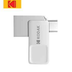 Original Kodak k223c USB3.1 Metal USB Flash Drive 32GB 64GB 128GB Type-C Dual Interface Memory stick U Disk pen drive