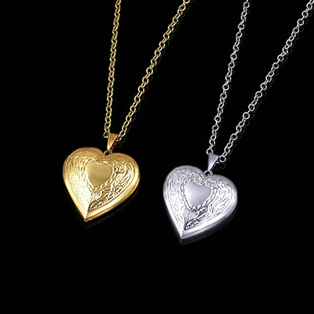 Online shop photo frame memory locket pendant necklace for women photo frame memory locket pendant necklace for women male lovers couples gold color love heart necklaces pendants wholesale aloadofball Images