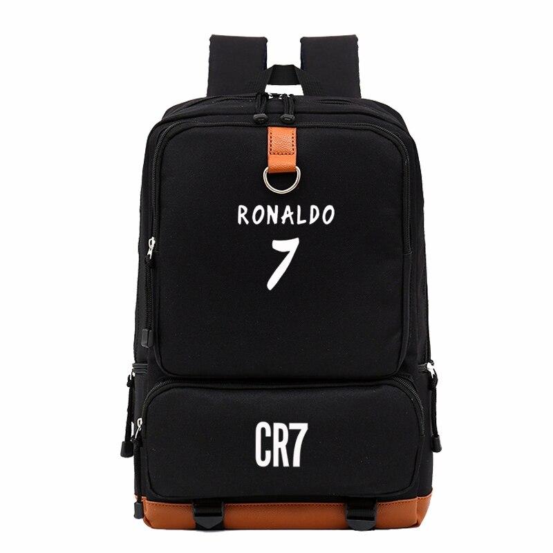 Laptop Backpack 15 6 Inch Men Canvas Teen Book Bag Male Ronaldo Back Pack Women High