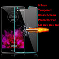 New Genuine Explosion Proof Toughened Tempered Glass Protective Film Case Cover Screen Protector LG G2 G3 G4 Wholesale