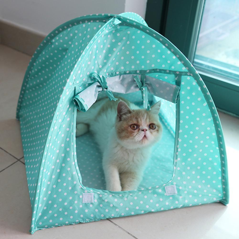Простой точечный узор анти-москитная складная палатка для домашних собак и котов гнездо